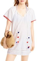 J.Crew Women's Embroidered Pompom Linen & Cotton Cover-Up