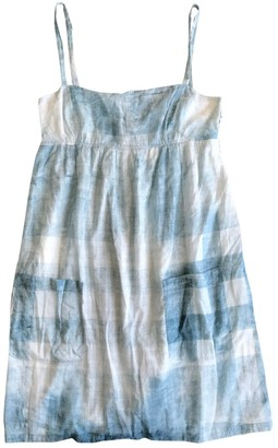 Burberry Blue Cotton Dresses