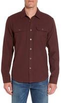 Prana Men's Lybek Regular Fit Herringbone Flannel Shirt