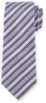 Davidoff Icon Stripes Silk Tie, Purple