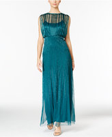 Adrianna Papell Beaded Illusion Blouson Gown