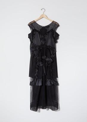 Simone Rocha Silk Satin & Tulle Skeleton Dress