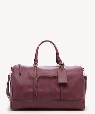 Sole Society Women's Devon Weekender Vegan Leather In Color: Oxblood Bag From