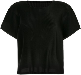 Pleats Please Issey Miyake Ribbed Effect Blouse