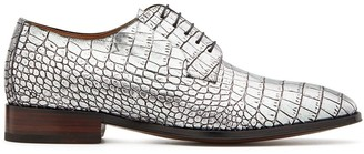 Giuseppe Zanotti Metalllic Embossed Lace-Up Shoes