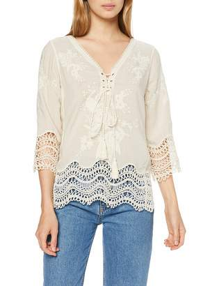 New Look Women's Jenny Lace Up Blouse