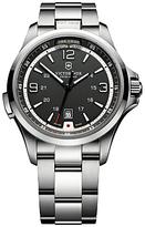 Victorinox 241569 Night Vision Bracelet Strap Watch, Silver/black