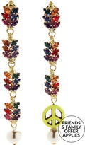 Anton Heunis Pace Peace Dangly Drop Earrings- Multicolour
