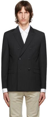 HUGO BOSS Black Wool Pinstripe Blazer