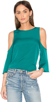 1 STATE Cold Shoulder Flounce Top