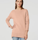 LOFT Ribtrim Tunic Sweater