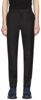 Alexander McQueen Black Selvedge Wool and Mohair Trousers