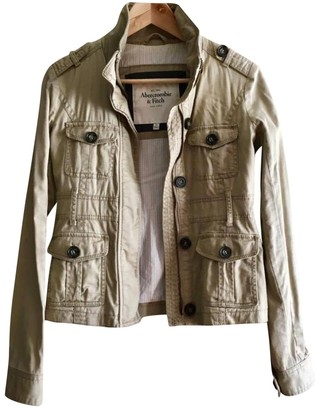 Abercrombie & Fitch Beige Cotton Jacket for Women