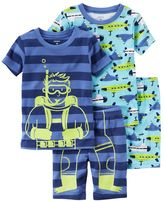 Carter's Toddler Boy Graphic & Print 4-pc. Pajama Set