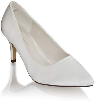 Linzi Paradox London Lavine Ivory Wide Fit Low Heel Court Shoes
