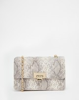 Asos Snake Quilted Cross Body Bag