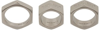 Off-White Off White Hex Nut set of 3 rings