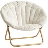 Pottery Barn Teen Lustre Velvet Linen Channel Stitch Hang-A-Round Chair