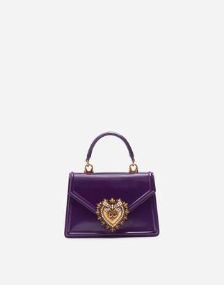 Dolce & Gabbana Small Devotion Bag In Calfskin