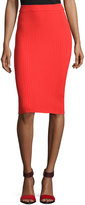 Rebecca Taylor Ribbed Pencil Skirt, Coral