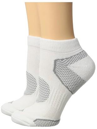 Columbia 2-Pack Low Cut Walking Socks (White) Women's Low Cut Socks Shoes