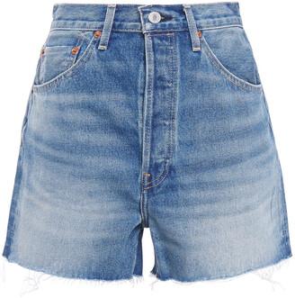 RE/DONE 50s Cutoffs Distressed Denim Shorts