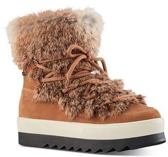 Cougar Women's Waterproof Fur-Trim Platform Ankle Boots