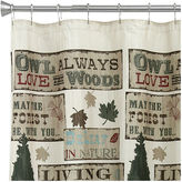 Bacova Guild Live Love Lodge Shower Curtain