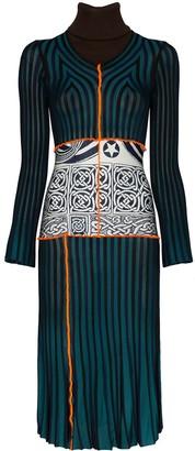 Duran Lantink Stripe Patchwork Knit Dress