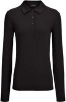 Joseph Cotton Lyocell Stretch Polo in Black