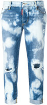 DSQUARED2 Glam Head bleached pattern jeans - women - Cotton - 36
