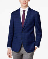 Kenneth Cole Reaction Men's Slim-Fit Navy Plaid Sport Coat