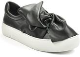 J/Slides - Annabel - Leather Rose Bow Sneaker