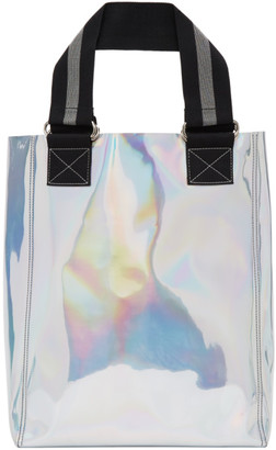 Honey Fucking Dijon Silver PVC Iridescent Tote