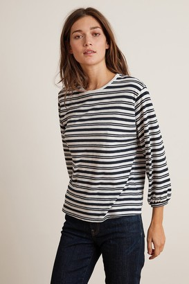 Velvet by Graham & Spencer Sadie Stripe Jersey 3/4 Sleeve Tee
