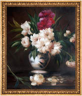 Overstock Art Peonies In A Vase By Edouard Manet Framed Hand Painted Oil Reproduction