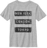 Fifth Sun Athletic Heather 'New York London Tokyo' Crewneck Tee - Boys