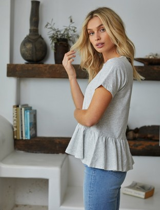 Forever New Joanne Smock T-Shirt - Grey Marle - l