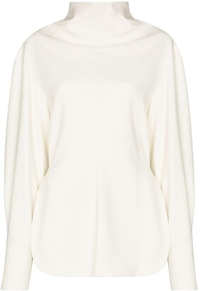 Low Classic High-Neck Long-Sleeve Top
