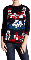 Cotton Emporium Light Up Teddy Bear Sweater