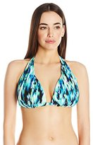 Kenneth Cole New York Women's Floral Explosion D-Cup Halter Bikini Top