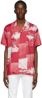 Double Rainbouu Red Uuaves Hawaiian Shirt