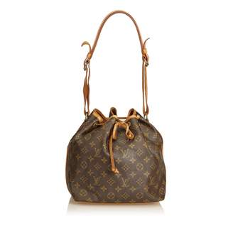 Louis Vuitton Vintage Brown Cloth Handbag