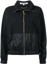 Kenzo logo print wind breaker jacket - women - Nylon - L