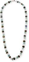 "Margo Morrison Aquamarine and Mixed-Bead Necklace, 35""L"