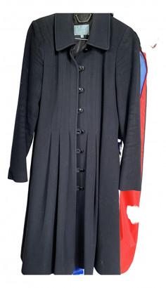 Jigsaw Black Cotton Coats