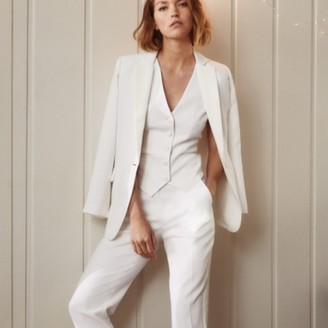 The White Company Tuxedo Trousers, Ivory, 14