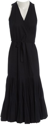 Les Prairies de Paris Black Cotton Dress for Women
