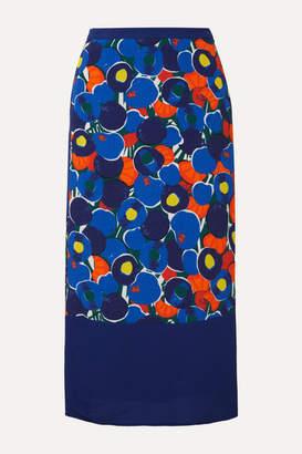STAUD Moulette Printed Voile Midi Skirt - Purple