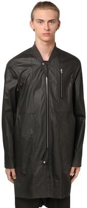 Rick Owens Zip-Up Waxed Cotton Bomber Jacket